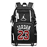 YOURNELO Basketball Player Rucksack School Backpack Bookbag (C Jordan Black)