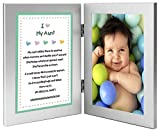 Gift for Aunt - Sweet Poem from Niece or Nephew in Double Frame - Add Photo