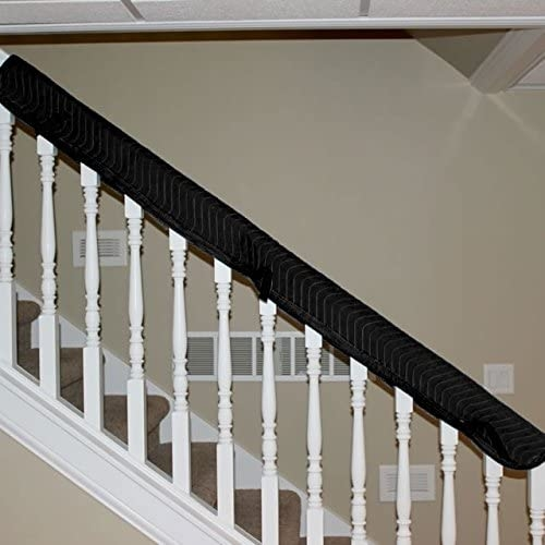 Amazon Com Us Cargo Control Banister Railing Cover Made From | Wood Railing With Metal Spindles | Metal Stair | Decorative | Different Kind Wood | Wood Handrail | Modern