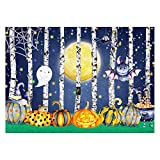 Funnytree 7x5FT Halloween Cartoon Photography Backdrop for Children Party Decoration Trick Or Treat Dress Up Bat Pumpkin Background Photo Booth