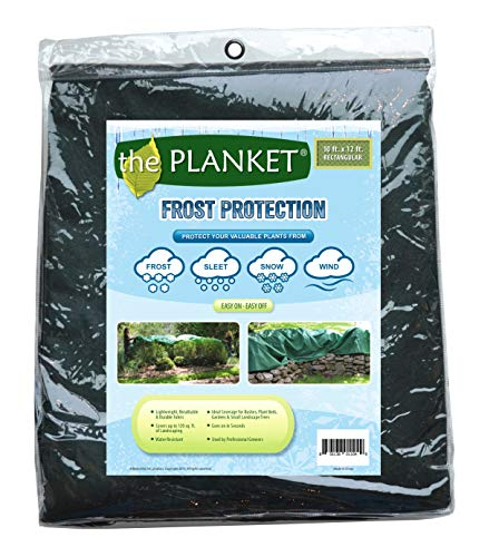 the Planket 10 x 12 ft Rectangular Frost Protection Plant Cover, Green