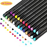 Journal Planner Pens Colored Pens Fine Point Bullet Pens, 0.4mm Fineliner Color Pens for Drawing Writing Journaling Coloring, Art School Office Supplies Set of 24 Assorted Colors