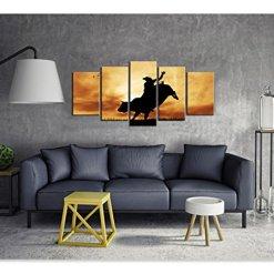 Bull Rider at Sunset Wall Art