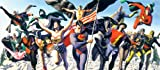 """Justice Society"" Limited Edition print on canvas by Alex Ross, DC Comics"