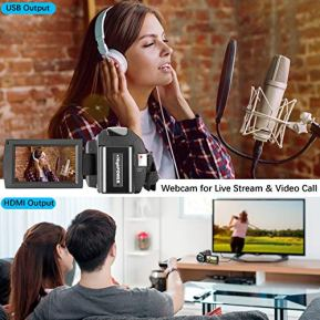 Camcorder-1080P-Video-Camera-KOT-36MP-30-Inch-IPS-Touch-Screen-16X-Digital-Zoom-IR-Night-Vision-HD-Vlogging-Camera-Digital-Video-Camera-Camcorder-with-Microphone-Handheld-Stabilizer-Remote-Control
