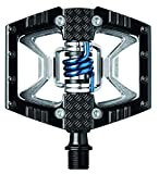 CRANKBROTHERs Crank Brothers Double Shot Pedals, Black/Raw/Blue Spring