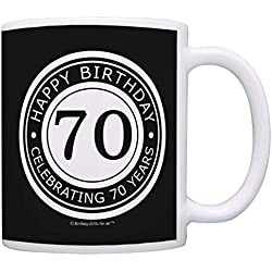 Happy Birthday Celebrating 70 Years Coffee Mug