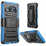 Galaxy S6 Edge Plus Case, i-Blason Prime Series Dual Layer Holster for Samsung Galaxy S6 Edge Plus + with Kickstand and Locking Belt Swivel Clip (Blue)