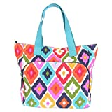 French Bull Canvas Tote Bag, Medium 18.5' Fashion Gym/Carry-all with Yoga Mat Carrier