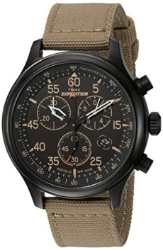 Timex Men's TW4B10200 Expedition Field Chronograph Tan/Black Nylon Strap Watch
