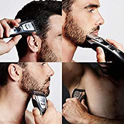 Panasonic Body and Beard Trimmer for Men ER-GB80-S, Cordless/Corded Hair Clipper, 3 Comb Attachments and 39 Adjustable Trim Settings, Washable  Image 2