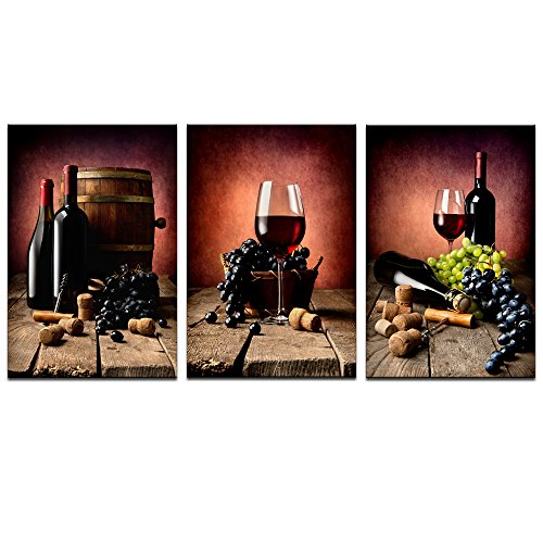 Rich unique and bold wine wall art decor home wall art for What kind of paint to use on kitchen cabinets for 2 panel canvas wall art