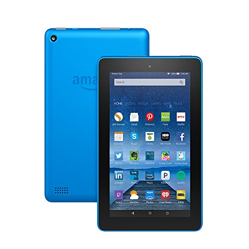 """Fire Tablet, 7"""" Display, Wi Fi, 8 GB   Includes Special Offers, Blue  Image of 51hm VMUIlL"""