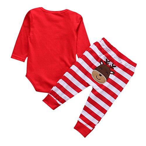 00534b6c0 BAOBAOLAI Xmas Outfits for Newborn Baby Girls Boys My First ...
