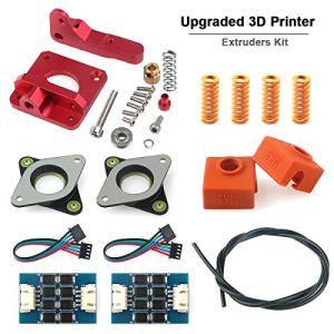 3D-printer TL-Soepeler Ender 3 Extruder Kit Upgrade Vervanging Aluminium MK8 Drive Feed Sock Tube Stappenmotor Trillingsdemperveer voor Creality Ender 3, CR-10, CR-10S, CR-10 S4, CR-10 S5