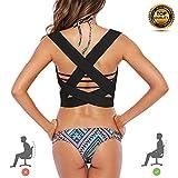Posture Corrector for Women Men and Kids Under Clothes, Adjustable 2 Shoulder Straps Back Brace Posture Support Belt/Back Straightener/Posture Trainer Device for Kyphosis Slouching & Hunching - S