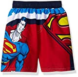 DC Comics Toddler Boys' Superman Swim Trunk with UPF Protection, Red, 3T