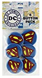 Button set DC Comics Originals Superman Sparkle Logo 6 Individual Loose Buttons, 1.25""