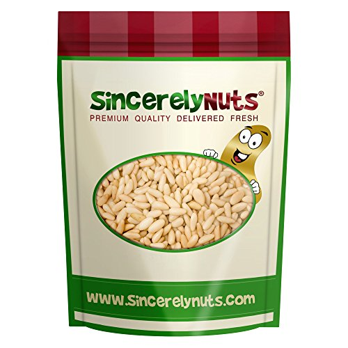 Sincerely Nuts Raw Turkish Pine Nuts (Pignolia) - 1 Lb. Bag- Healthy Mediterranean Snack- Premium Quality and Freshness- 100% Kosher Certified