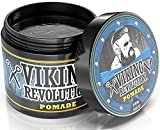 Viking Revolution Pomade for Men - Style & Finish Your Hair - Firm Strong Hold & High Shine for Men's Styling Support - Water Based Male Grooming Product is Easy to Wash Out, 4oz