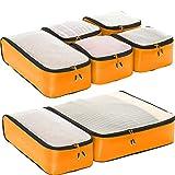 eBags Ultralight Travel Packing Cubes - Lightweight - Ultimate Packer Organizers - 7pc Set - (OrangeYellow)