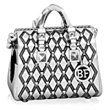 Authentic BELLA FASCINI Designer Purse Studded Tote Handbag Bead Charm- 925 Silver - Fits Bracelets