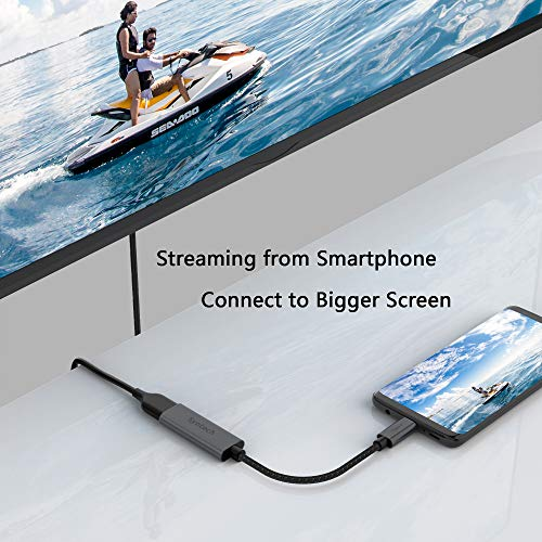 51hx1RBVNYL - USB C to HDMI Adapter, Syntech Thunderbolt 3 to HDMI Adapter Compatible with MacBook Pro 2019/2018/2017, MacBook Air, iPad Pro 2018,Samsung Galaxy S10/S9,Dell XPS 13/15 and More