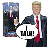 """This beautifully sculpted Donald trump talking figure says 17 lines in trump's own voice - and yes, together, we will make America great again. - Oh, don, you're a little controversial, you're talking about illegal immigration. I said, """"it's illegal ..."""