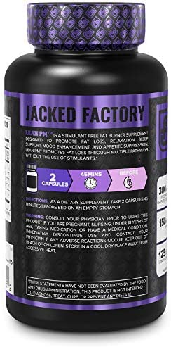 Lean PM Melatonin Free Fat Burner & Sleep Aid - Night Time Sleep Support, Weight Loss Supplement & Appetite Suppressant for Men and Women - 60 Caffeine Free, Keto Friendly Diet Pills 4