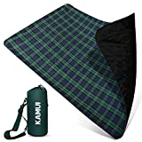 KAMUI Outdoor Waterproof Blanket - Machine Washable Stadium Blanket, Waterproof and Windproof Backing, Portable Shoulder/Hand Strap Great for Festival, Park, Beach, Ground Blanket 79X55inch 201X140cm
