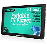 12 Inch Portable Digital ATSC TFT HD Screen Freeview LED TV for Car,Caravan,Camping,Outdoor or Kitchen.Built-in Battery Television/Monitor with Multimedia Player Support USB Card LEADSTAR