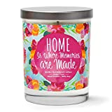 Home is Where Memories are Made   Vanilla, Sandalwood, Amber   Scented Soy Candles  10 Oz. Candle   Poured in USA   Decorative Aromatherapy   Housewarming Gifts for New Home   New Home Gift Ideas