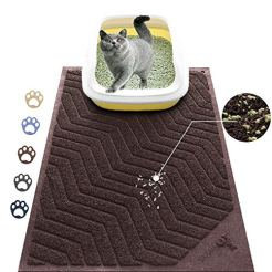 WePet-Cat-Litter-Mat-Kitty-Litter-Trapping-Mesh-Mat-35-x-23-Inch-Large-Brown-Premium-Durable-PVC-Rug-No-Phthalate-Urine-Waterproof-Easy-Clean-Washable-Scatter-Control-Litter-Box-Carpet