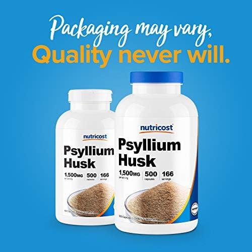 Nutricost Psyllium Husk 500mg, 500 Capsules - 1500mg Per Serving, Non-GMO & Gluten Free 3