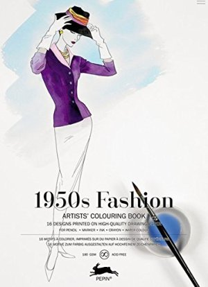 1950s Fashion: Artists' Colouring Book (Multilingual Edition)