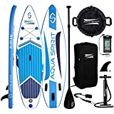AQUA SPIRIT Premium Inflatable Stand Up Paddle Board for Adults & Youth | Beginner & Intermediate iSUP Hybrid Touring & Racing Model Plus Adjustable Aluminum Paddle (10' 6' x 33' x 6')