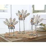 Mud Pie Thanksgiving Decor Standing Tin Turkey Votive holder 3 pieces Set Autunm Entertainment Home Decoration