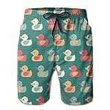 KfjTA Mans Duck Painting Summer Beach Pants Soft Swimming Beach Pants