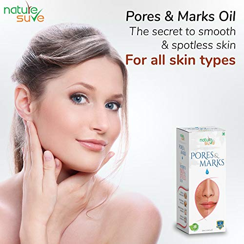 51i62fl1HLL Nature Sure Pores and Marks Oil - 100ml - for enlarged skin pores, stretch marks and fine lines