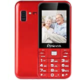 Easy to use Cell Phones for Seniors, Senior Cell Phone Lould Speaker-2.6' Display/Big Key Button/FM Radio/Elederly Phone 2G GSM, 3G WCDMA AT& T Mobile, T Mobile, Straight Talk, Simple Mobile Red