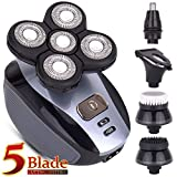 Men's 5-in-1 Electric Shaver & Grooming Kit: Five-Headed Beard, Hair Razor for a Perfect Bald Look, Cordless and Rechargeable