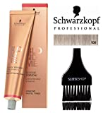 Schwarzkopf Professional Blond Me Blonde Toning (NEW VERSION - 2.1 oz); includes'Sleek Tint Brush' (ICE)
