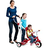 Radio Flyer Ride & Stand Stroll 'N Trike - Kids Toy - Children's Push/pedal Ride-ons - Indoor/outdoor Toys - High-back Seat - Secure 3-point Harness - 1 Year Product Warranty
