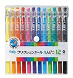 Pilot FriXion Pencil, 0.7mm Ballpoint Pen, 12 Colors Set (LFP-156FN-12C)