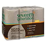 Seventh Generation 13737 Natural Unbleached 100% Recycled Paper Towel Rolls, 11' x 9', Brown (Case of 24)