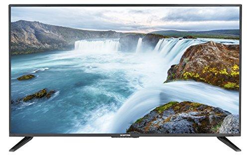 Sceptre X438BV-FSRR 43″ Slim LED FHD 1080p TV Flat Screen HDMI MHL High Definition and Widescreen Monitor Display ATSC/QAM 3 x HDMI Ports, Metal Black
