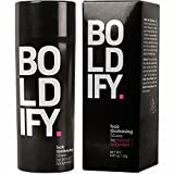 BOLDIFY Hair Fibers for Thinning Hair - 100% Undetectable Keratin Fibers - 25g Bottle - Completely Conceals Hair Loss in 15 Seconds (DARK BROWN)