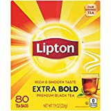 Lipton Tea, Extra Bold Cup, 80 ct, Pack of 5