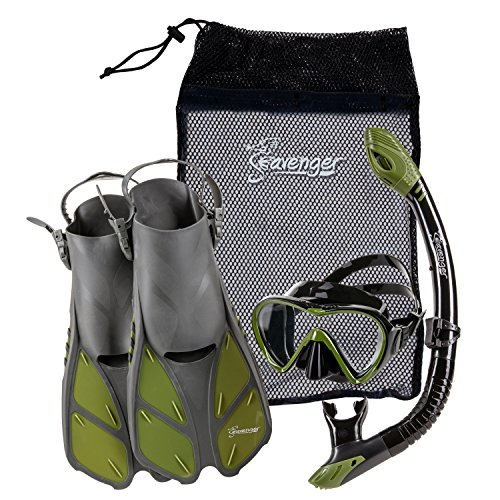 Seavenger Diving Dry Top Snorkel Set