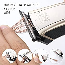 KIKI NEW GAIN Professional Cordless Rechargeable Hair Clippers Super Cutting Power Crew Cut Hair Trimmer Electric Head shaver T-shape Blade kids clipper  Image 1
